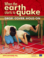 Earthquake Drill Procedures in School http://www.weready.org/earthquake/index.php?option=com_content&view=article&id=50&Itemid=56